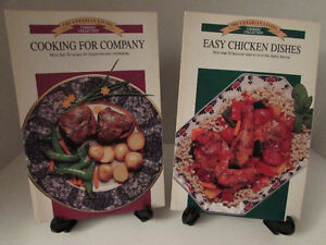 A wide variety of older cook books for sale- 10 cents each!