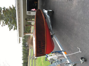 Refurbished 14.5 ft. Mahone BayAntique Wooden Speed boat.