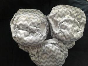 10 couches lavable nouveau-née entièrement neuf de marque la pet