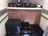 Disco dj equipment set up