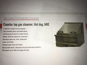 MKE Gas Steamer model L-45M - Food - Hot Dogs - Never used