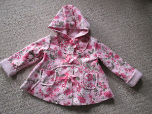 Girls Floral Dress Coat - 2T