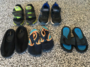 Size 11 toddler - youth boy shoes runners sandals $20 FOR ALL