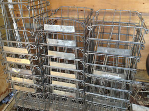 Cool Vintage Metal egg crates great for storage/decor