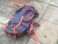 Large rucksack, roomy and perfect for gap year travel etc