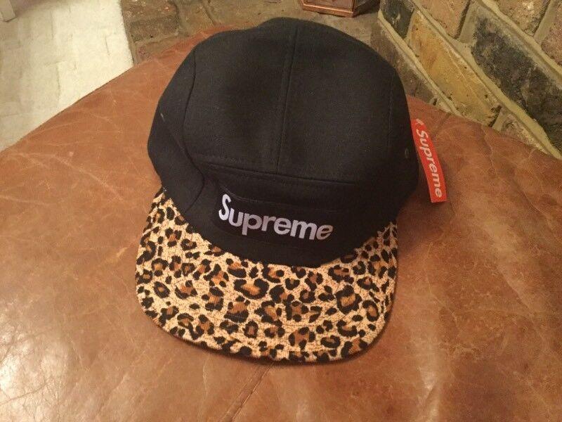 b0d6df26 ... 50% off supreme 5 panel hat fw11 leopard print authentic 100 bnwt cap  968bd c7914