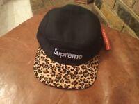 Supreme 5 panel hat fw11 leopard print authentic 100% bnwt cap