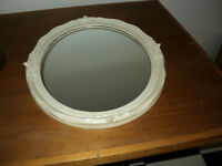 2 Wall MIRRORS ~ Large Nice Oval & Round Mirror $35 each