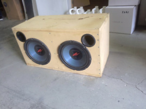 PIONEER CAR STEREO + KENWOOD AMP+SUBWOOFERS CUSTOM BOX