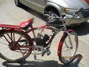 SUPER  CYCLE  WITH MOTOR 300.00,ALSO  26 INCH SUPER CYCLE  100.