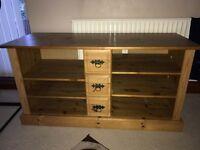 TV cabinet pine