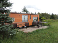 Waterfront trailer on private trout lake