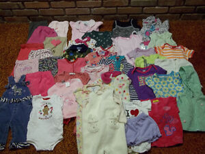 6-9 MONTHS BABY GIRL CLOTHES, GOOD CONDITION PICK UP ONLY 40 PCS