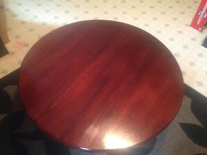 Round wooden coffee table Sarnia Sarnia Area image 1