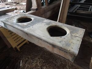 Old doors, Old Outhouse seat, signs, disc, Horse drawn scrapper