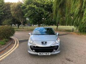 2007/57 Peugeot 207 CC 1.6 16v 120 Coupe Automatic Sport 2 Door Convertible
