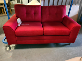 Brand New DFS 2 Seater Fabric Sofa In Red RRP £579