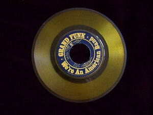 GRAND FUNK We're An American Band 45 single YELLOW  color vinyl Cambridge Kitchener Area image 1