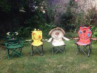 Children's garden/camping chairs.