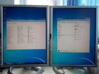 "Desktop PC with dual 19"" Dell monitors and Windows 7 professional"