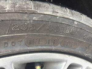 BF Goodrich Used 235 45R18 Tires in Good Condition