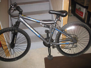 Nakamura Monster 18 speed dual suspension mountain bike