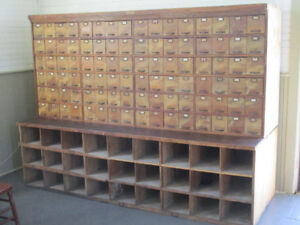 General Store bank of drawers. 98 drawers!!