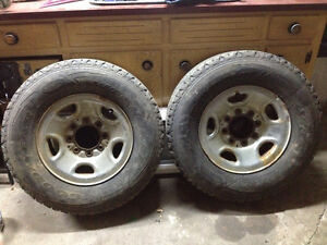 2 rims and tires 16 goodyear wrangler