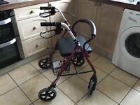 4 wheeled mobility walker