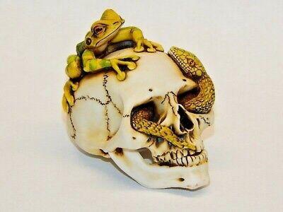 Harmony Kingdom Artist Neil Eyre Halloween Skull Head Bone Tree Frog Snake