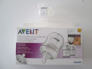Philips Avent 4 Once 3 Pack Bottles, Plus two extra nipples.