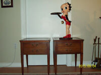 ANTIQUE LEATHER-TOP TABLES - MAHOGANY