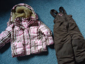 Girls Snow Suit Toddler  Size2