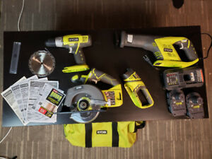 Ryobi Contractor Power Tool Set Brand New Used Once