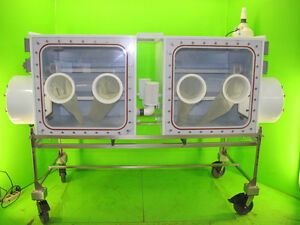 Used lab equipment: Charles River Isolator Chamber, Glove box