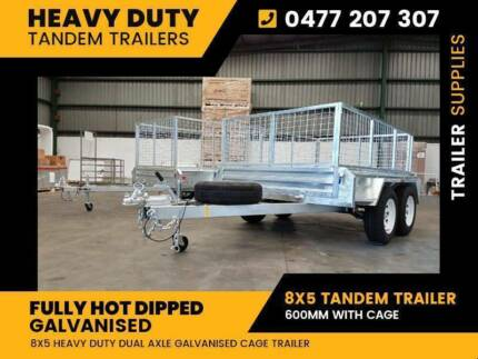 8x5 tandem trailer Galvanised heavy duty 600 cage dual axle Noble Park North Greater Dandenong Preview