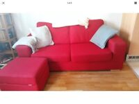 Sofa and footstool with FREE DELIVERY