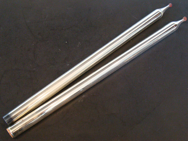 """Pair of ANTIQUE Vintage MERCURY GLASS 13"""" Silver Taper CANDLES for CANDLE HOLDER"""