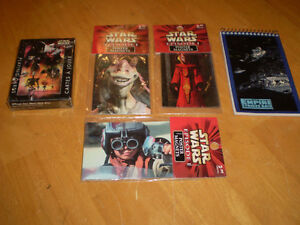 STAR WARS PLAYING CARDS, MAGNETS AND NOTE PAD