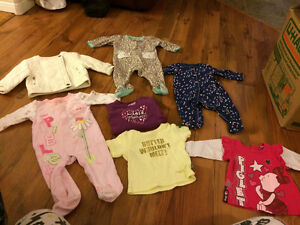 Baby girl clothing 0-3 months up to 6-9