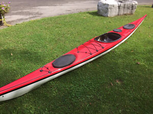 Impex Force 3 Fiberglass kayak in red/white on clearance now