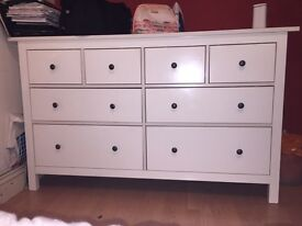 Need to sell ASAP!!! IKEA HEMNES WHITE chest of 8 drawers