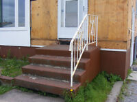 Outdoor Solid Cement Stairs & Railing