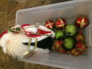 Christmas Ornaments and Santa Clause