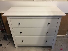 Large Chest of Drawers + 2 Tall Bookcase/Shoe Display Units