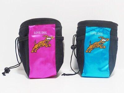 Snack-Tasche Leckerlibeutel Futterbeutel - Nylon-Polyester - Love Dog - 2 Farben Nylon-futter Farbe