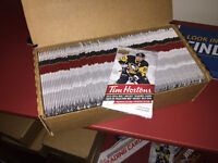 Sold out Tim Hortons unopened Hockey Cards  For sale is the sold