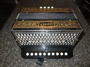 Hohner accordion.Made In Germany.Key of C.Fully Serviced!!