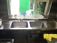 Double sink Cafe Restaurant