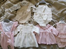 Baby girl newborn clothes bundle